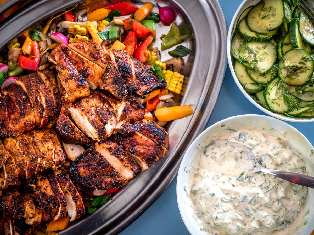 grillikanaa ja kesäruokaa
