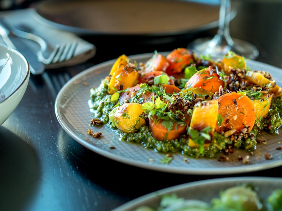 porkkanoita ja pestoa